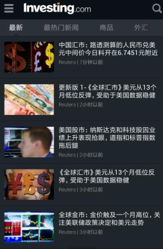 Investing.com外汇股票资讯通Android版和谐版