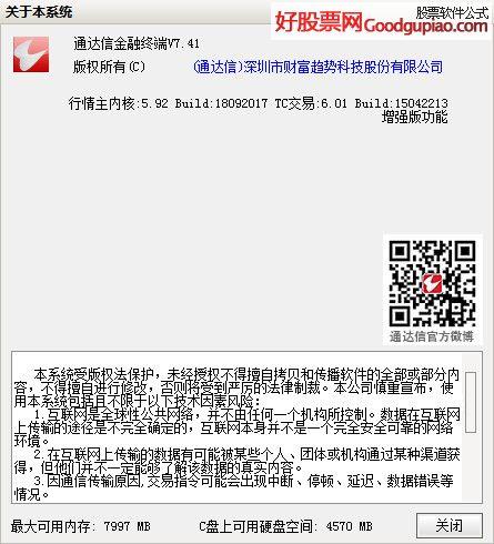 通达信金融终端V7.41( 5.92 2018-09-20 )纶巾羽扇分享版
